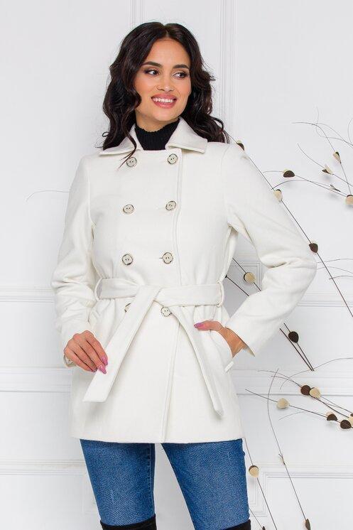 paltoane albe scurte de dama