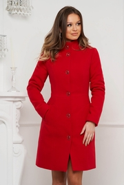 paltoane de iarna dama rosii